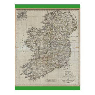 1804 Map of Ireland Postcard