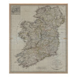 1804 Map of Ireland Poster