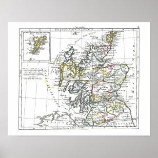 1806 Map - L Ecosse Print