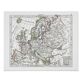 1806 Map - L Europe Posters