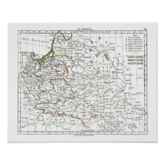 1806 Map - La Pologne Posters
