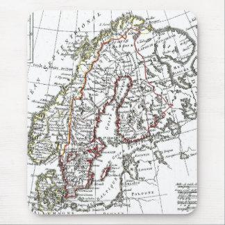 1806 Map - La Suede at le Danemarck Mouse Mat