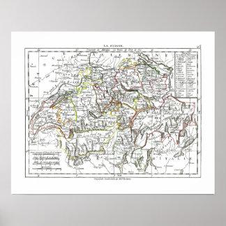 1806 Map - La Suisse Poster