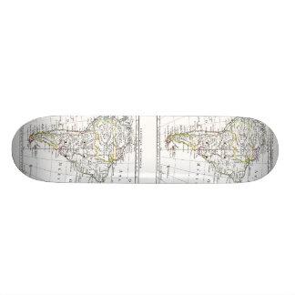 1806 Map - L'Amérique Méridionale 21.3 Cm Mini Skateboard Deck