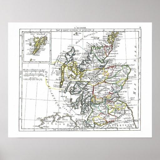 1806 Map - L'Ecosse Print