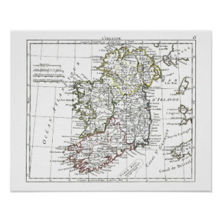 1806 Map - L'Irlande Poster