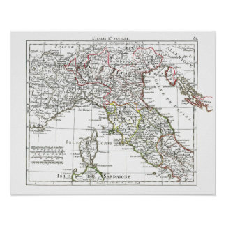 1806 Map - L'Italie 1ere Feuille Poster