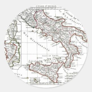 1806 Map - L'Italie (Sud) Round Sticker
