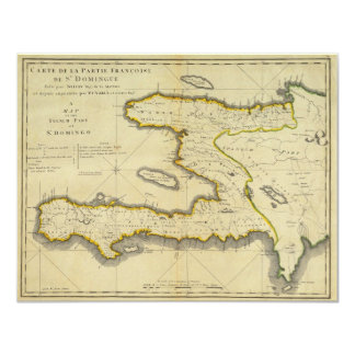 1814 Haiti Map by Mathew Carey Card