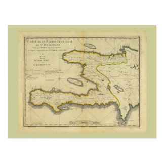 1814 Haiti Map by Mathew Carey Postcard