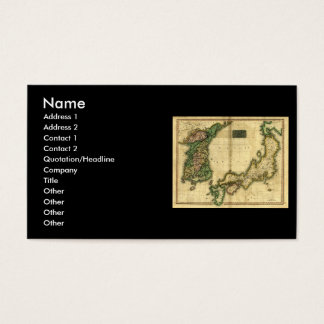 1815 Map of Korea and Japan Business Card