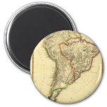 1817 Map of South America 6 Cm Round Magnet
