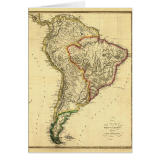 1817 Map of South America Card