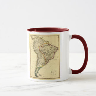 1817 Map of South America Mug