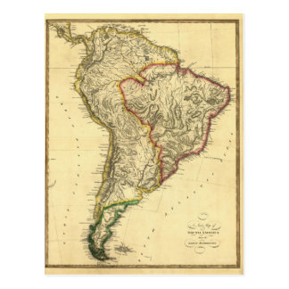 1817 Map of South America Postcard