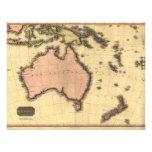 1818 Australasia  Map - Australia, New Zealand Invitation