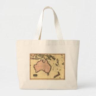 1818 Australasia  Map - Australia, New Zealand Large Tote Bag