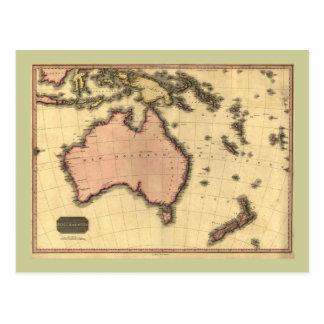1818 Australasia Map - Australia New Zealand Postcards