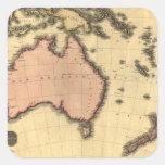 1818 Australasia  Map - Australia, New Zealand Square Sticker