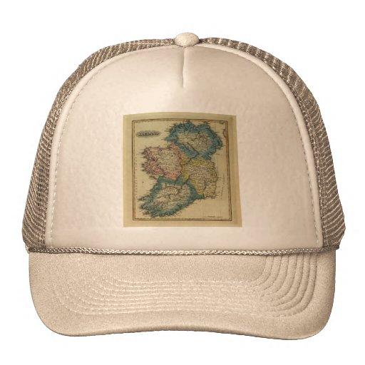 1823 Ireland map by Lucas Fielding Jr Mesh Hats
