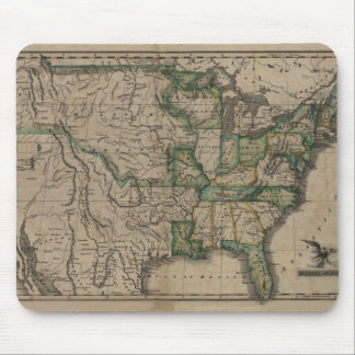 1823 US Map Mouse Mat