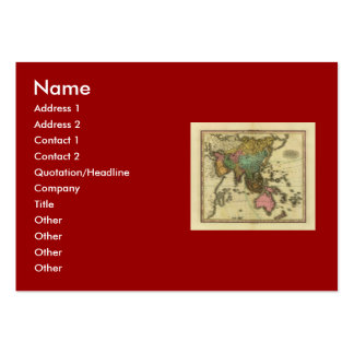 1825 Map of Asia by Henry Tanner Business Card Templates