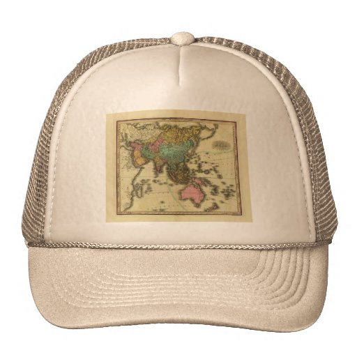 1825 Map of Asia by Henry Tanner Trucker Hat