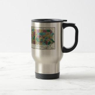 1829 Pennsylvania Map Coffee Mugs