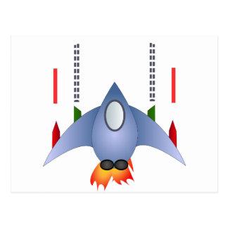 18355-space-ship-vector KIDS SPACESHIP CARTOON FLI Postcard