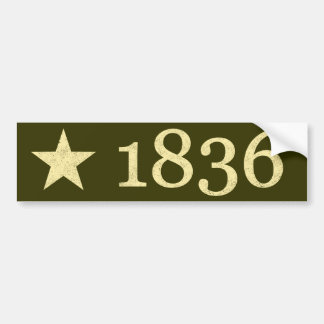 1836 BUMPER STICKER