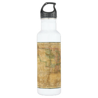 1839 David H. Burr Wall Map of the United States 710 Ml Water Bottle