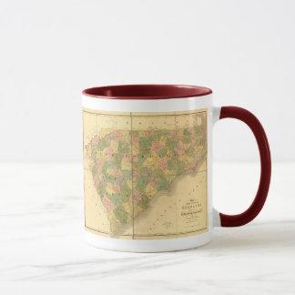 1839 North Carolina and South Carolina Map Mug