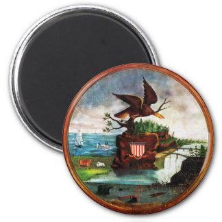 1840 America Folk Art 6 Cm Round Magnet
