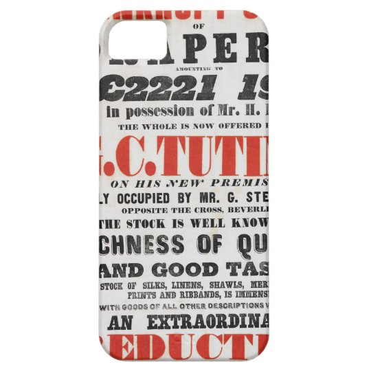 1840s Handbill-style Mobile Phone Case