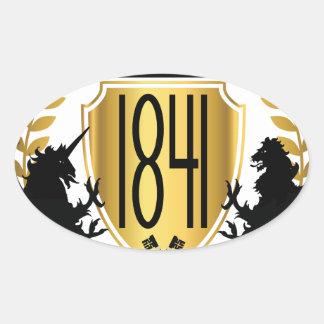 1841 Brand Oval Sticker