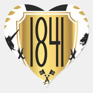1841 Brand Heart Sticker