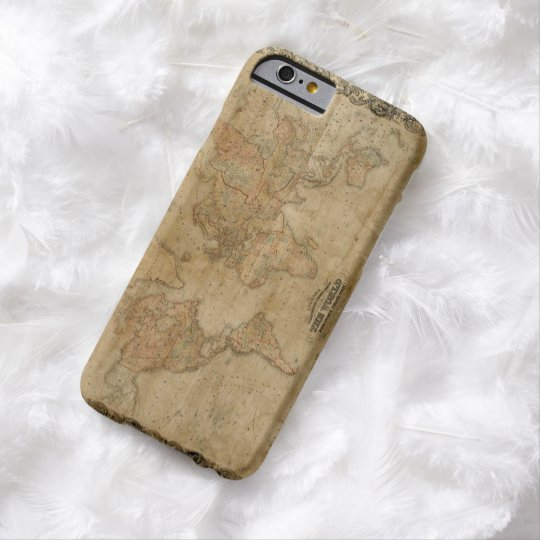 1847 Vintage Old Gold World Map Barely There iPhone 6 Case