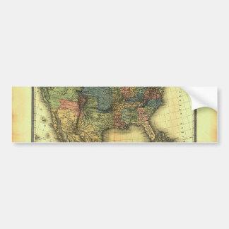 1848 Thunot Duvotenay Map:  Etats-Unis & Mexique Bumper Sticker