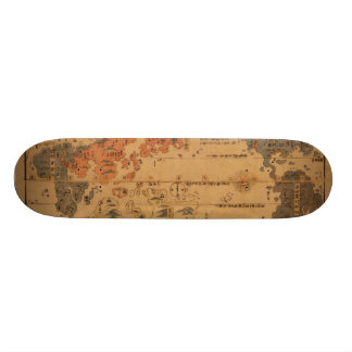 1850 Bankoku jinbutsu no zu People of many nations Skate Board