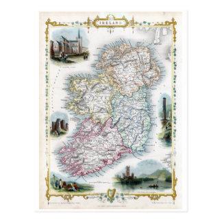 1851 Map Éire Post Card