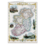 1851 Map of Ireland Greeting Card