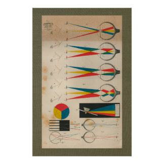 1851 Vintage Vision Eyesight Anatomy Chart