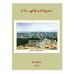 1852 Colour Lithograph - View of Washington