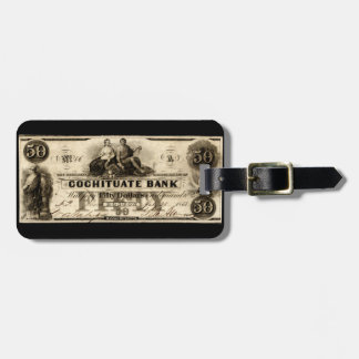 1853 Cochituate Fifty Dollar Note Travel Bag Tag