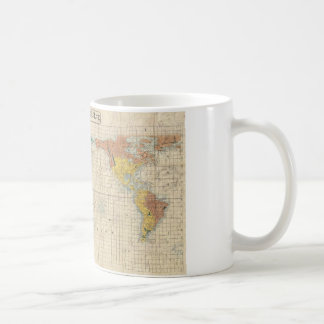 1853 Japanese world map by Suido Nakajima Basic White Mug