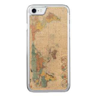 1853 Japanese world map by Suido Nakajima Carved iPhone 8/7 Case