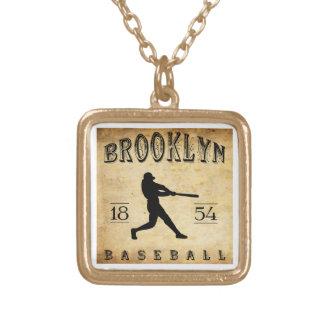 1854 Brooklyn New York Baseball Necklace