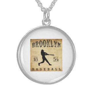 1854 Brooklyn New York Baseball Pendant