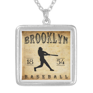 1854 Brooklyn New York Baseball Custom Necklace