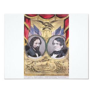 1856 Fremont - Dayton Republican 11 Cm X 14 Cm Invitation Card